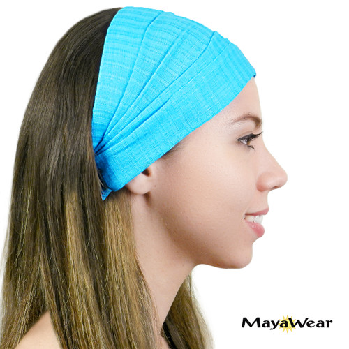 BAND105V - Vibe Blue Bandana. 100% Cotton. Made in Guatemala.