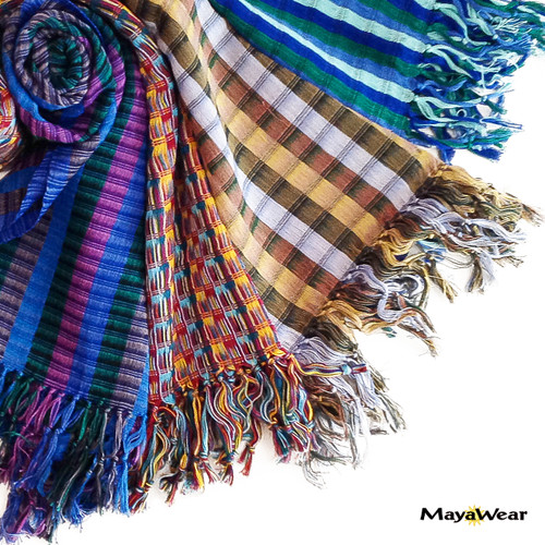 100% Cotton Hand Woven. Made in Guatemala. https://www.mayawear.com