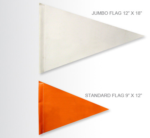 "Pennant Replacement Jumbo Size Flag 12"" x 18"""