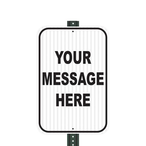 Reflective Aluminum Sign - Customized