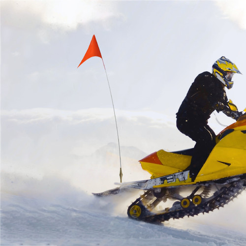 """Snowmobile Flag with Mounting Bracket 1/4"""" x 5'"""