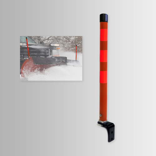 """High Visibility Snow Plow Marker 1"""" x 2.5'"""