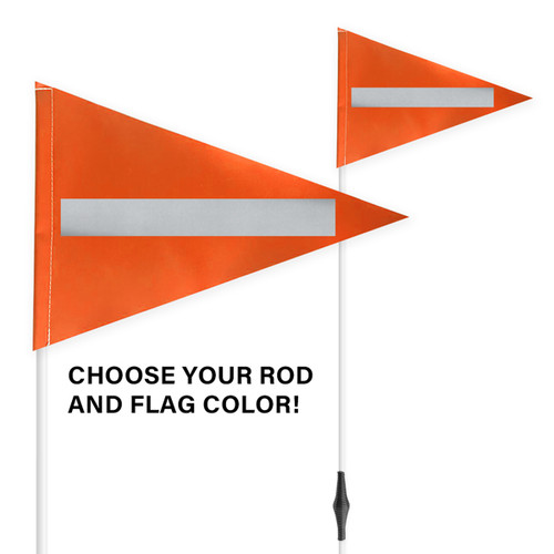 """Spring Tile and Field Marker with Flag + Reflective Laminate on Flag 1/4"""" x 6'"""