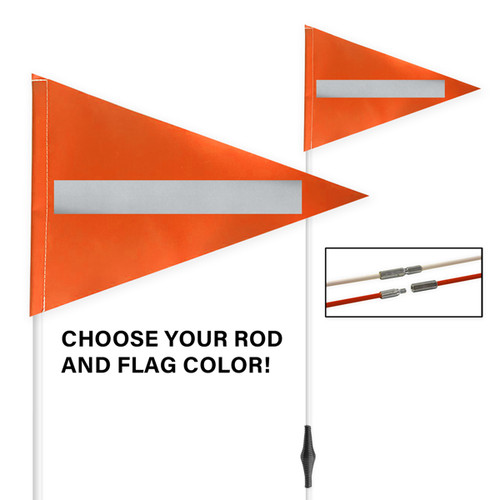 """Tile and Field Marker with Flag + Reflective Laminate on Flag 5/16"""" x 10' (2-PIECE)"""