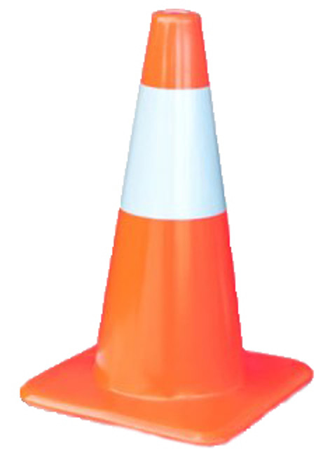 """Traffic Cone With Reflective Collar 28"""" - 7#"""
