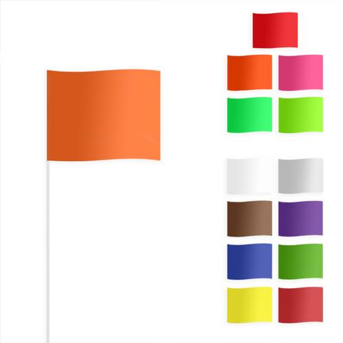"Fiberglass Staff-W/Standard or Fluorescent Flag 18"" Staff 4""x 5"" Flag (100/bundle)"
