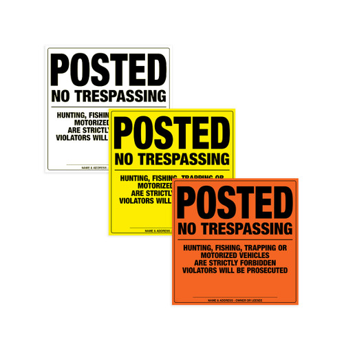 MEDIUM DUTY NO TRESPASSING SIGN (Aluminum)