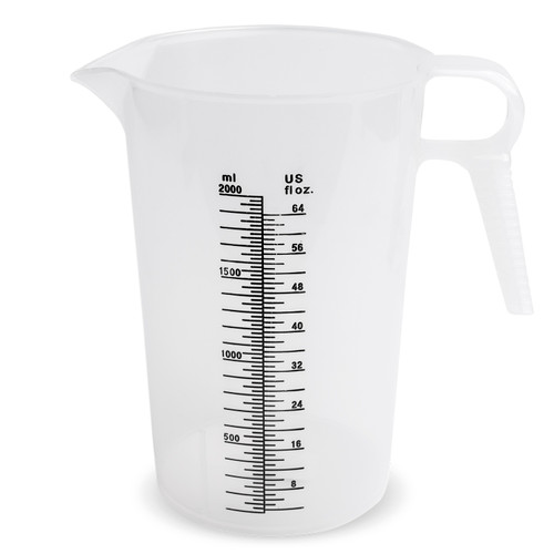 Accu-Pour Measuring Pitcher - 64 oz. (Plain or Decal)