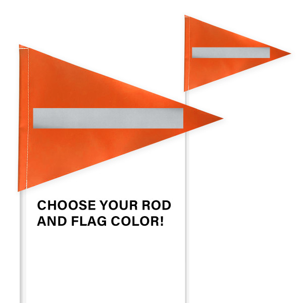 """Tile and Field Marker with Flag + Reflective Laminate on Flag 1/4"""" x 8' (Actual Length 7' 9"""")"""