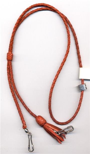 4 Strand Double Lanyard shown with Tassle on one end