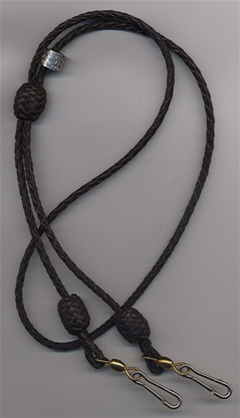 Double Whistle Lanyard, 4-Strand with knots on clip ends