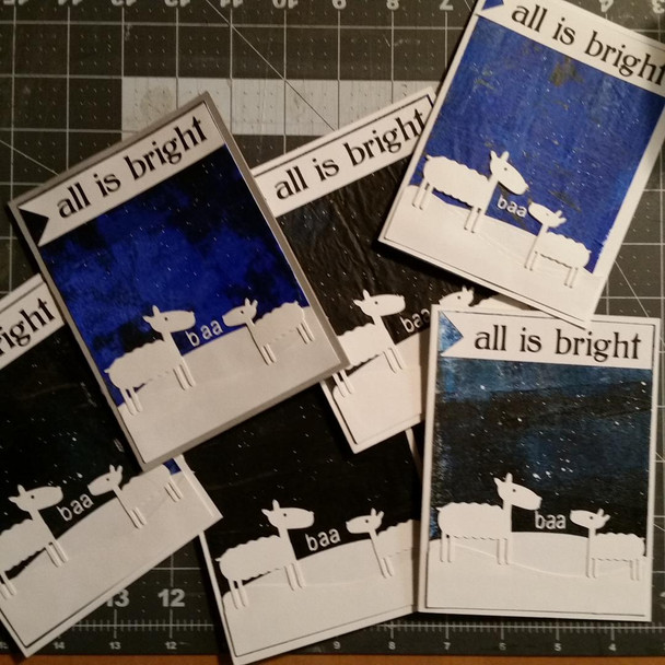 All is Bright Sheep Xmas Cards