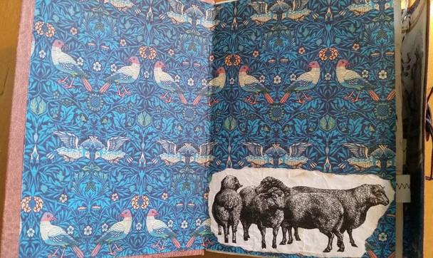Inside front cover of Travel Herding Journal #2