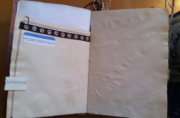 Blank pages for photos or journaling