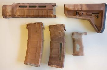Magpul AR-15 Custom Dyed MOE SL Carbine Length 5 piece Kit Tan Camo #2