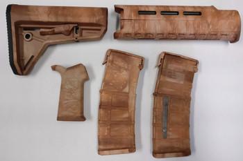 Magpul AR-15 Custom Dyed MOE SL Carbine Length 5 piece Kit Tan Camo #1