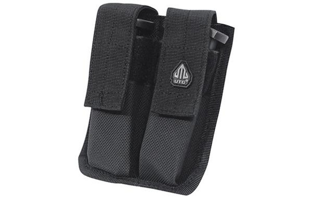 UTG Dual Pistol Mag Pouch Black