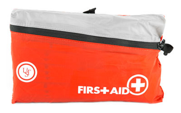 The FeatherLite First Aid Kit 3.0 contains an assortment of first aid supplies needed to treat a variety of minor injuries. The outer case is constructed of durable, lightweight nylon cloth that is bright red to make it easy to locate. A detailed First Aid Kit Owner's Guide is also included with basic first aid instructions.