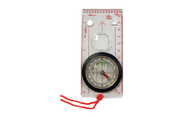 """UST - Ultimate Survival Technologies, Compass, 4.25"""" x 2.25"""" x .25"""", Extended Clear Base Plate for Improved Map Reading The UST Deluxe Map Compass features a durable, clear baseplate with a high quality, liquid-filled compass with swivel bezel, plus inch, metric, and 1:25,000 scales for precise route planning."""
