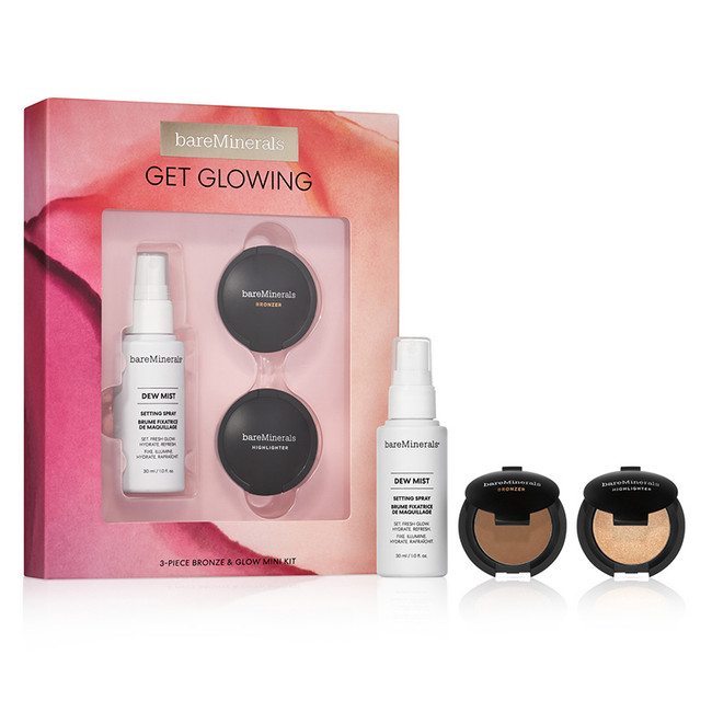 bareMinerals Get Glowing: 3 Piece Bronze & Glow Mini Makeup Kit