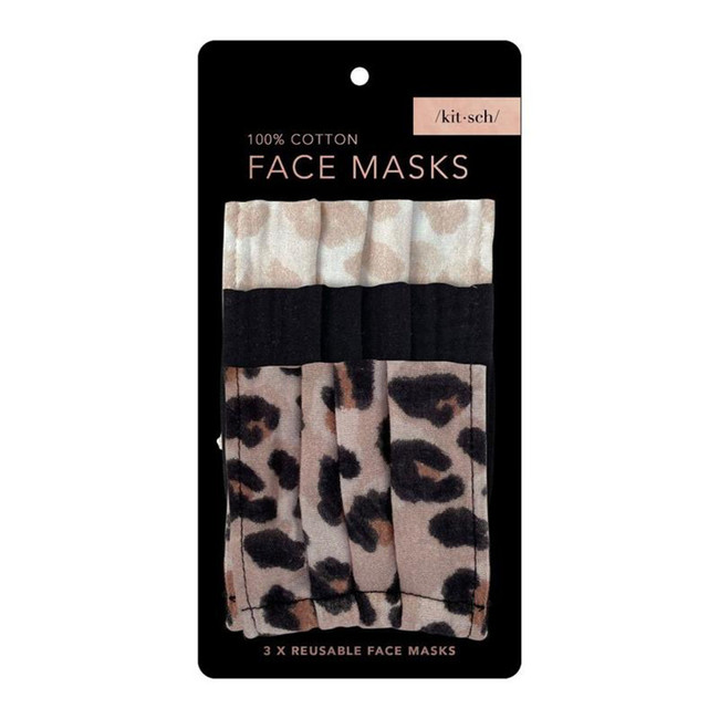 Kitsch Cotton Mask Leopard