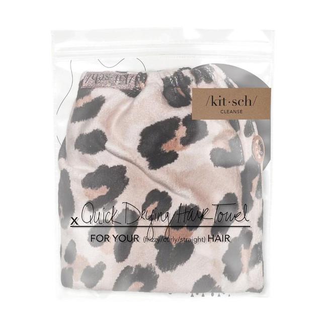 Kitsch Microfiber Hair Towel Leopard