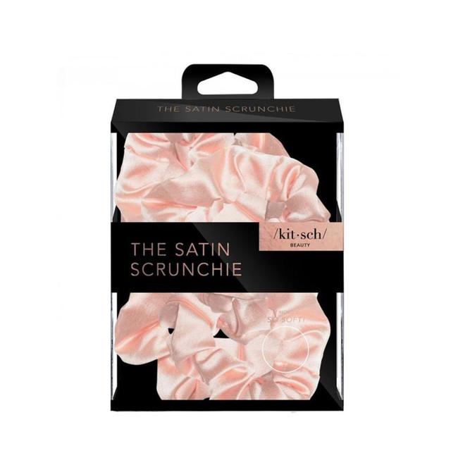 Kitsch Satin Sleep Scrunchies Blush