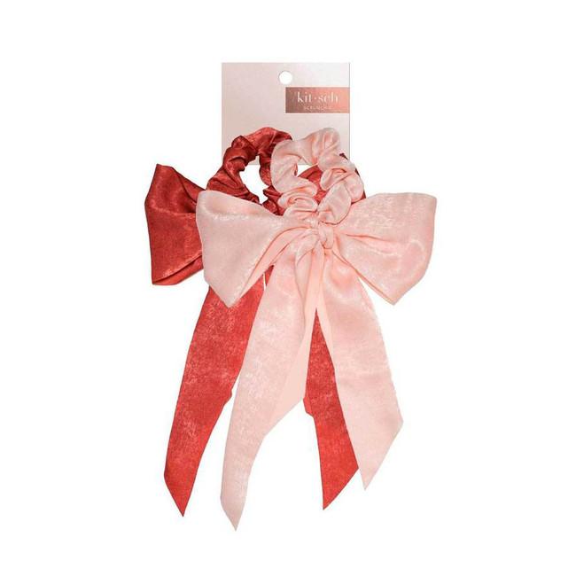 Kitsch Satin Bow Scarf Scrunchies