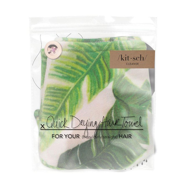 Kitsch Microfiber Hair Towel Palm Print