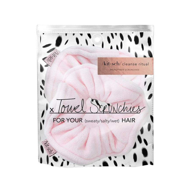 Kitsch Microfiber Towel Scrunchies Blush