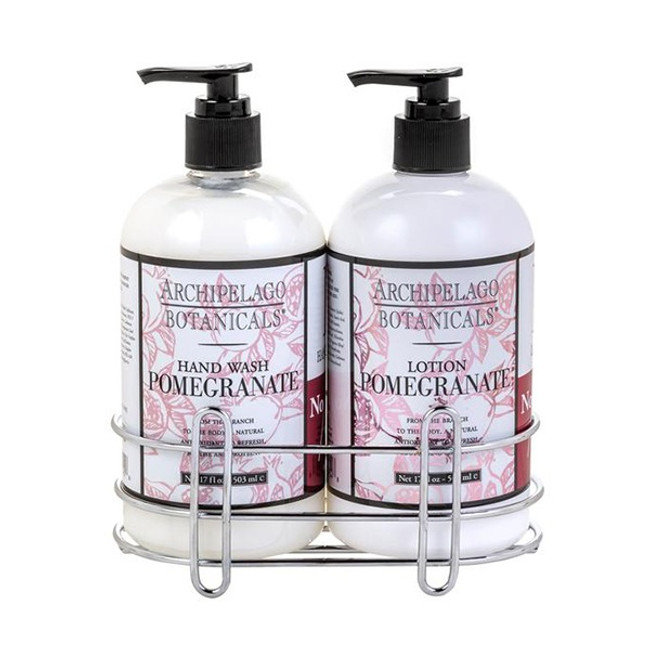 Archipelago Botanicals Pomegranate Hand Wash & Lotion Set