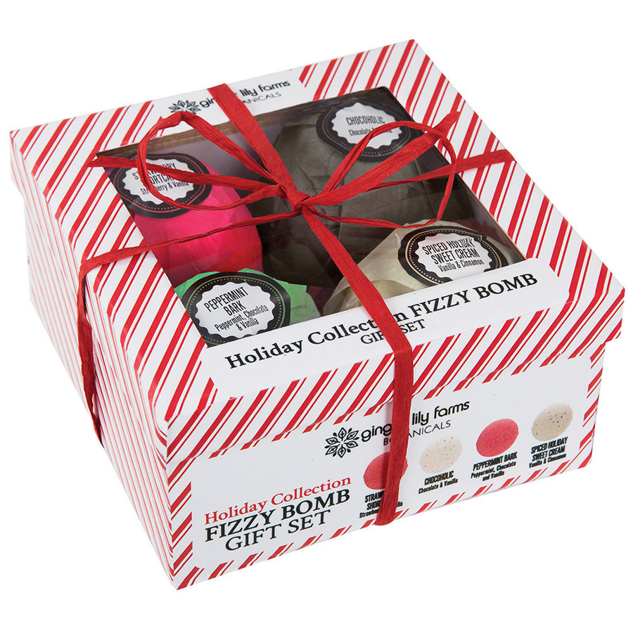 Ginger Lily Farms Botanicals Holiday Collection Fizzy Bomb Gift Set