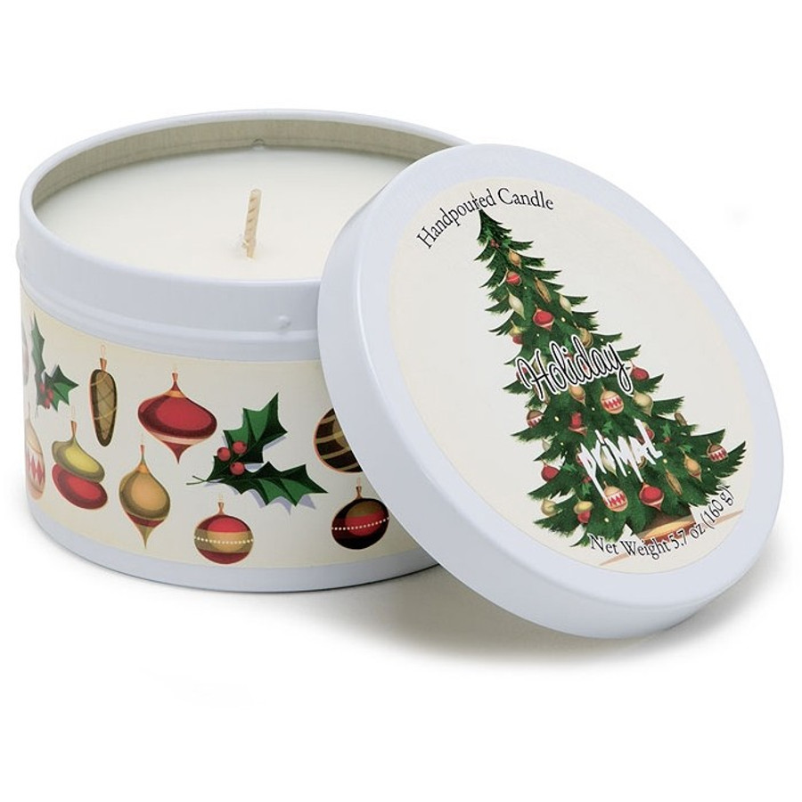 Primal Elements Holiday Tin Candle