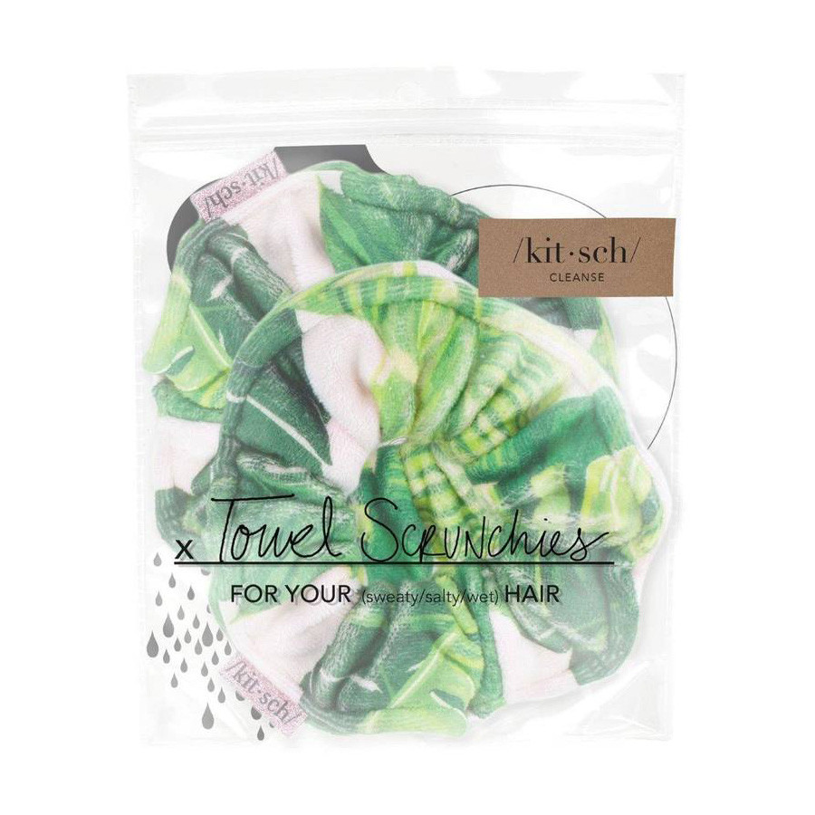 Kitsch Microfiber Towel Scrunchies Palm Tree