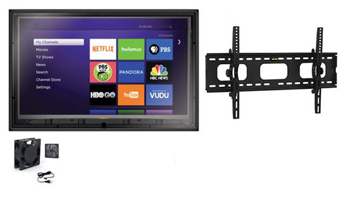 44-50 Inch Outdoor TV Enclosure with Fan and Tilt Mount-The TV Shield