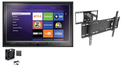 44-50 Inch Outdoor TV Enclosure with Fan and Full Motion Mount-The TV Shield