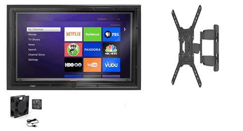 30-32 Inch Outdoor TV Enclosure with Fan and Full Motion Mount-The TV Shield