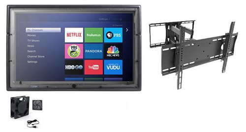 36-43 Inch Outdoor TV Enclosure with Fan and Full Motion Mount-The TV Shield