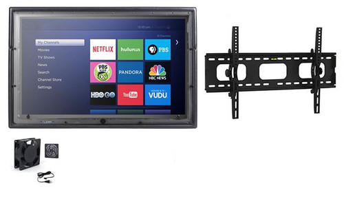 36-43 Inch Outdoor TV Enclosure with Fan and Tilt Mount-The TV Shield