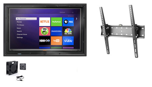 30-32 Inch Outdoor TV Enclosure with Fan and Tilt Mount-The TV Shield