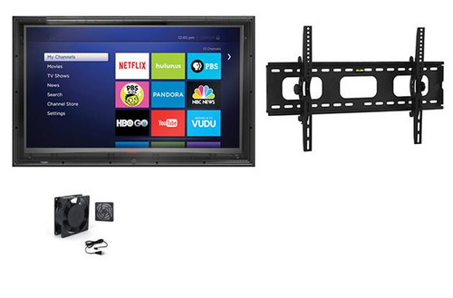 52-55 Inch Anti-Glare Outdoor TV Enclosure, Fan and Tilt Mount-The TV Shield