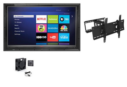 52-55 Inch Anti-Glare TV Enclosure, Fan and Full Motion Mount-The TV Shield