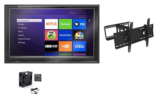 52-55 Inch Outdoor TV Enclosure with Full Motion Mount and Fan -The TV Shield