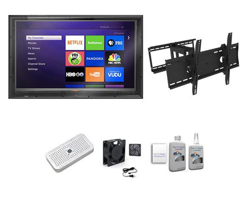 52-55 inch Outdoor TV Enclosure, Full Motion Mount Ultimate Kit-The TV Shield