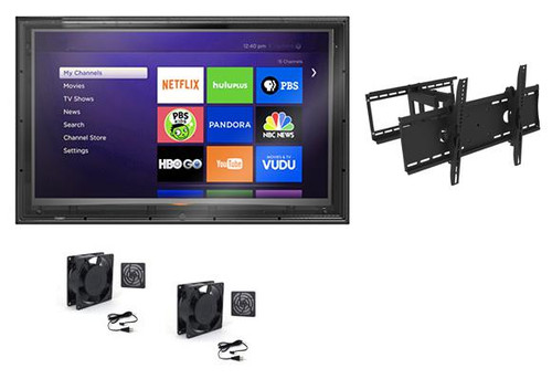 60-65 Inch Outdoor TV Enclosure with Full Motion Mount and Fans-The TV Shield