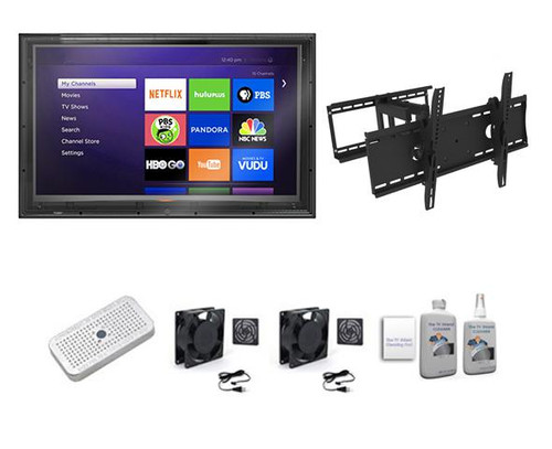 60-65 inch Outdoor TV Enclosure, Full Motion Mount Ultimate Kit-The TV Shield