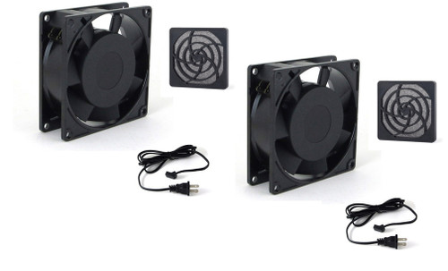 """Dual 92mm Cooling Fan Kit for 44"""" thru 65"""" Enclosures (not for PRO Series)"""