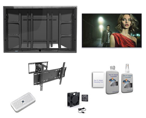 """50"""" TCL 4K QLED Smart TV and Outdoor TV Enclosure Ultimate Kit-The TV Shield"""