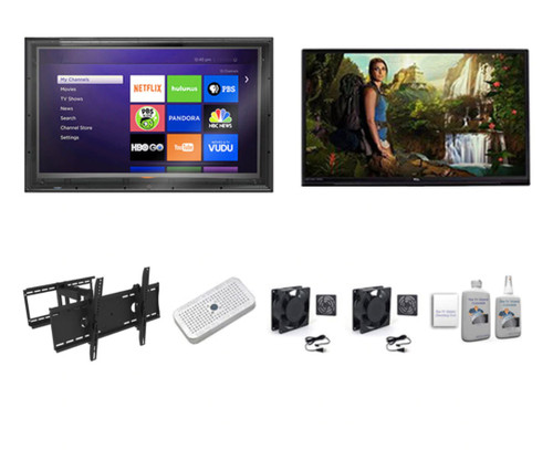 """65"""" TCL 4K QLED Smart TV and Outdoor TV Enclosure Ultimate Kit-The TV Shield"""