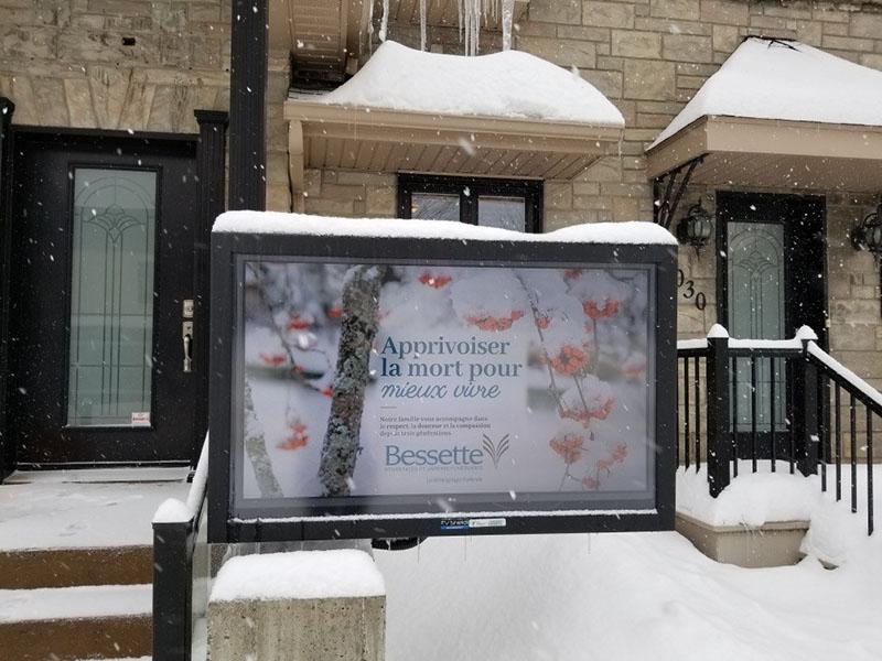 Awesome outdoor TV cabinet in the snow (The TV Shield PRO)